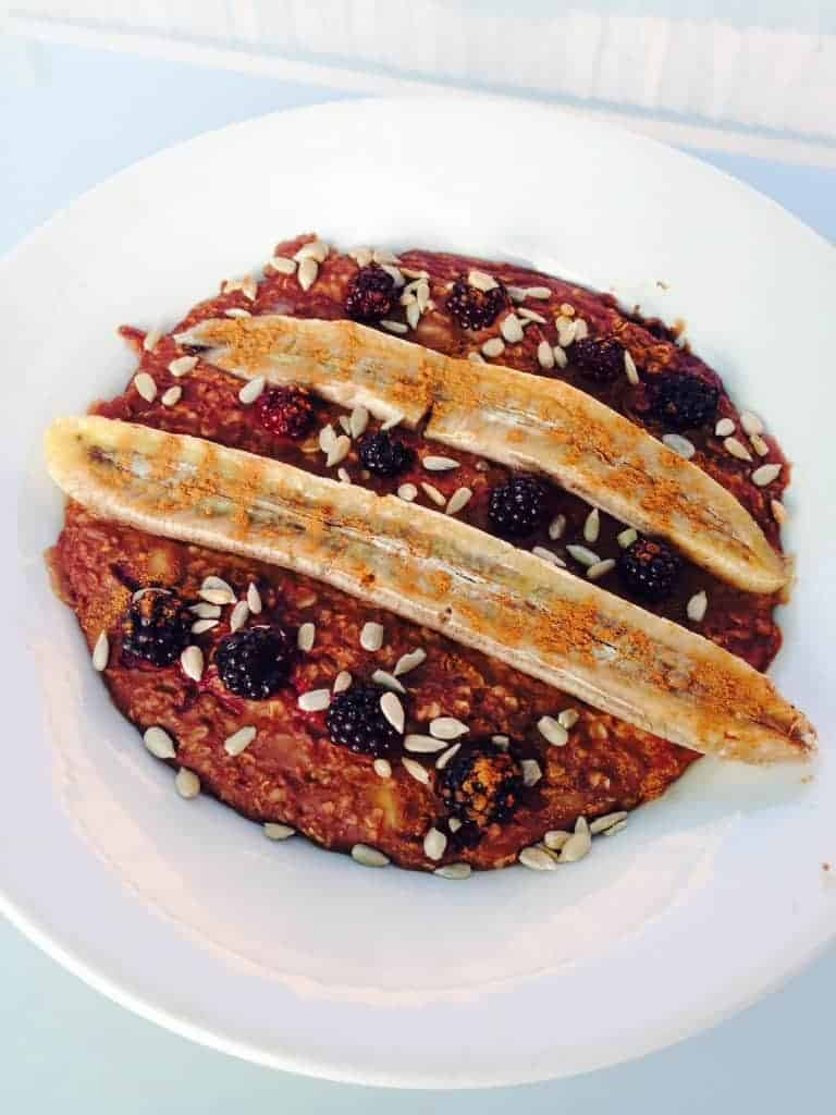 oatmeal, porridge, oats, maca, breakfast, healthy, vegan, vegetarian, gluten-free