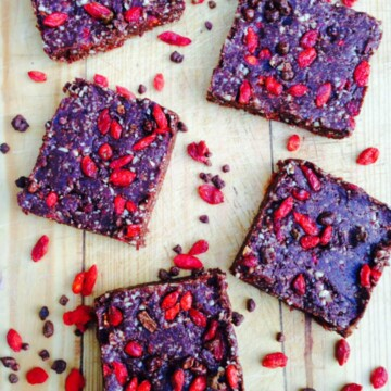 Chocolate goji bars recipe