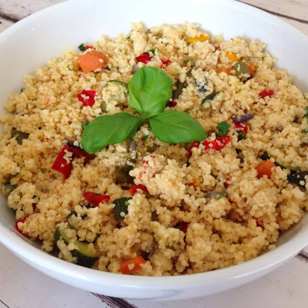 Healthy easy couscous recipe with ingredients that are right now in your fridge. Filling, light, tasty and no special cooking skills required.