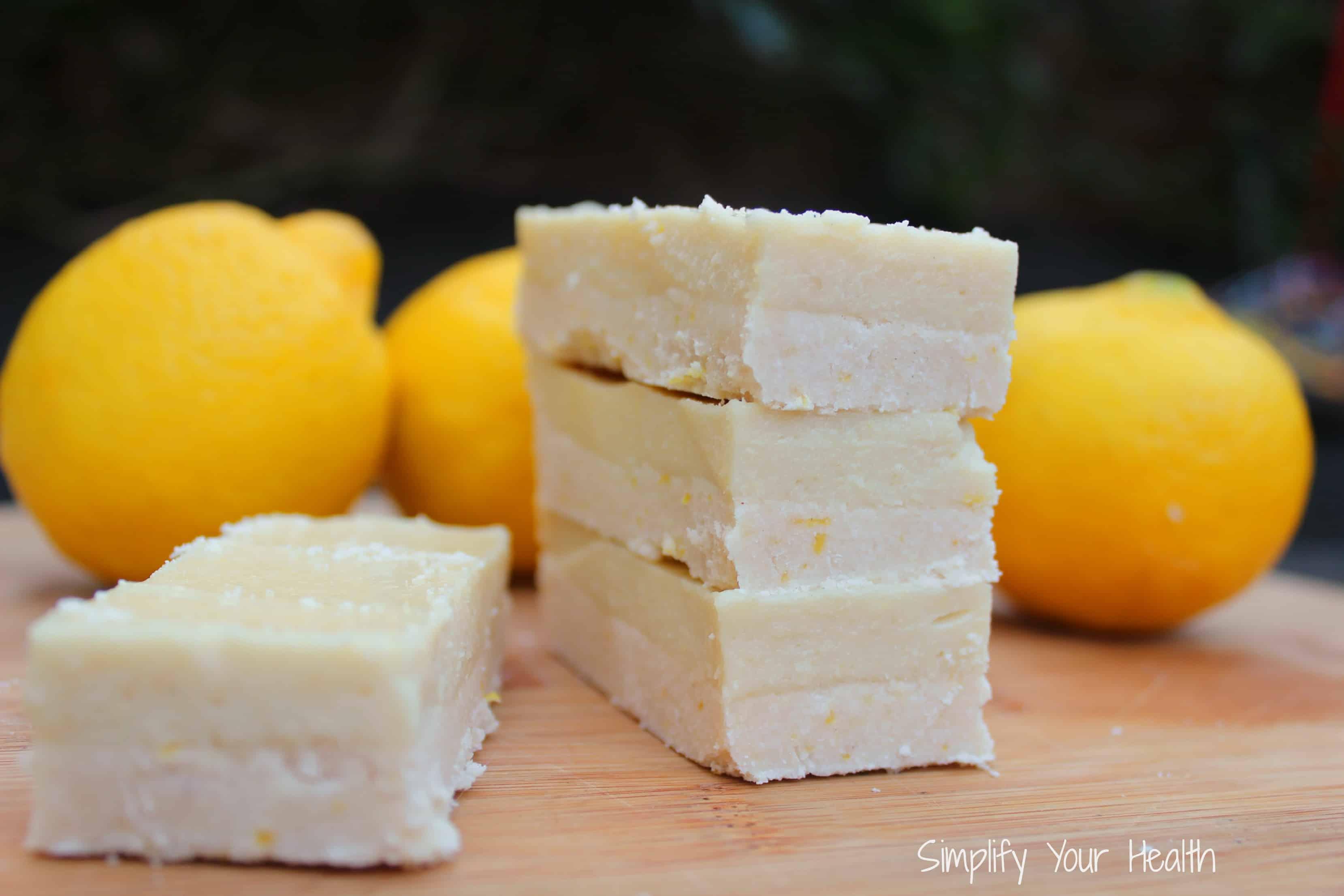 Best coconut flour recipes - Lemon bars by Simplify Your Health