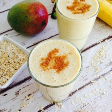 Mango and banana lassi recipe | Hedi Hearts Clean Eating