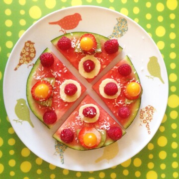 Watermelon smoothie and pizza recipe