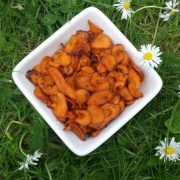 Healthy carrot crisps recipe