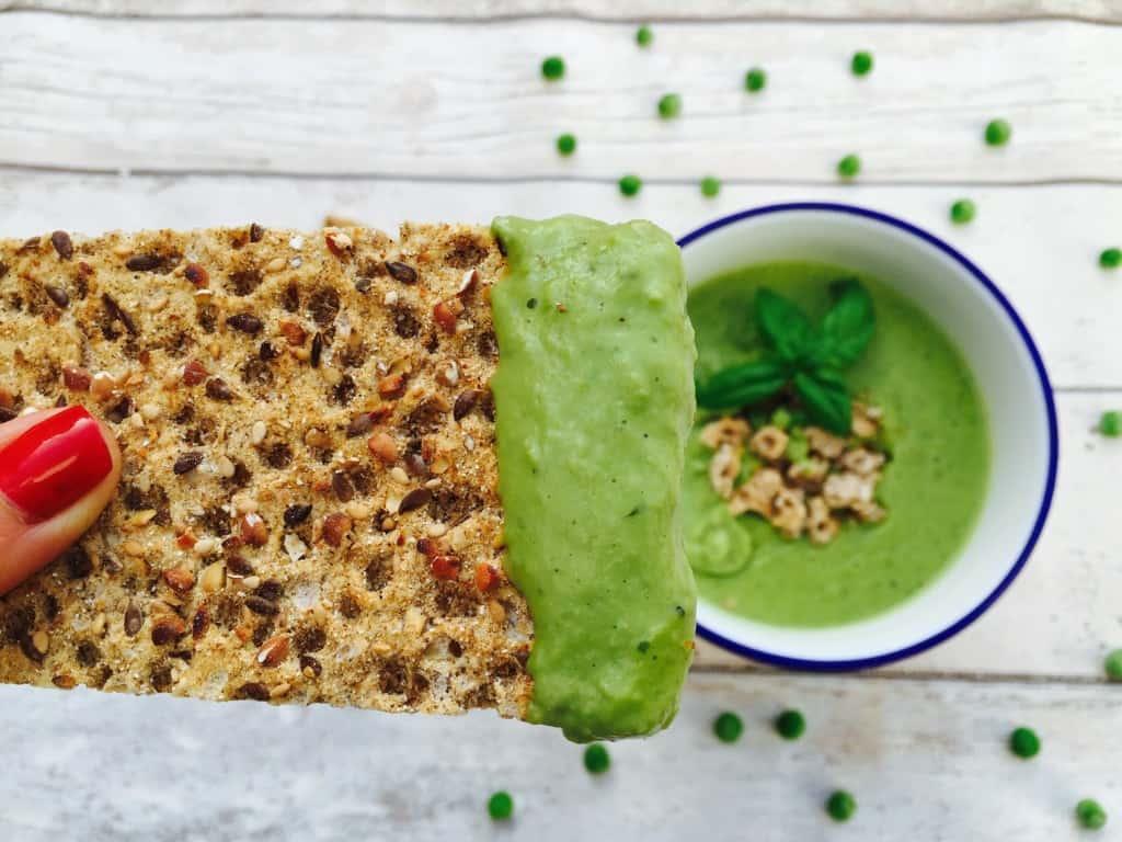 Creamy pea and basil soup recipe