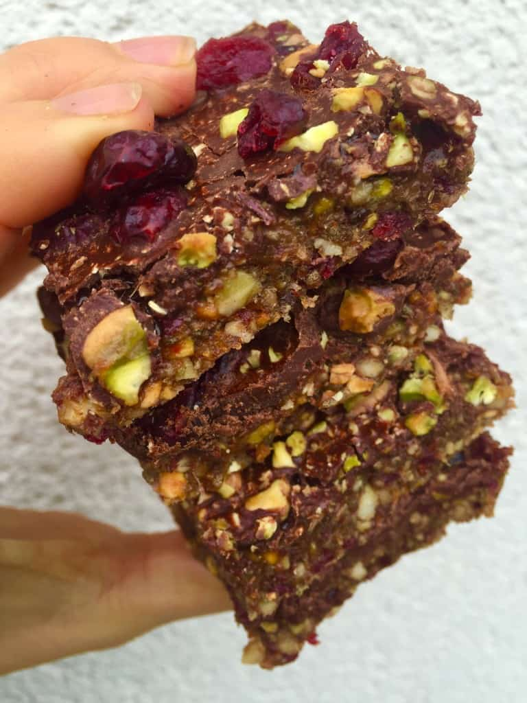 Nut Bars with Pistachios and Cranberries - Image 1