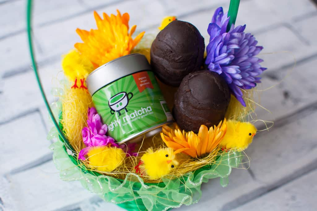 Clean eating chocolate Easter eggs with Mighty Matcha Recipe 1