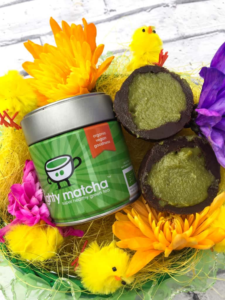 Clean eating chocolate Easter eggs with Mighty Matcha Recipe 2