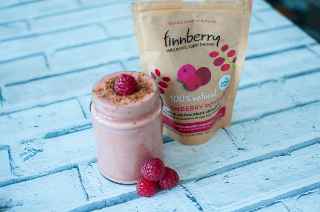 Sweet potato smoothie with lingonberry recipe 6