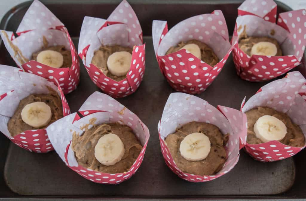Lush, gluten and dairy free, naturally sweetened, perfectly healthy almond banana muffins recipe made with basic ingredients and it's all done in a blender!