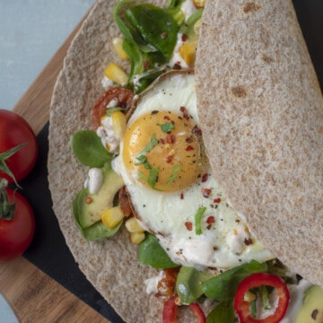 Anyone who favoures savoury breakfast over sweet one this Healthy Breakfast Burrito recipe is just what you need. Easy, tasty,vegan and vegetarian friendly!