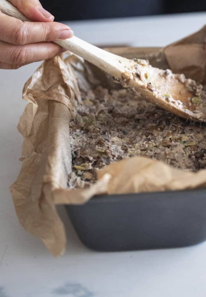 Healthy nut roast go-to recipe for a Christmas meat-free alternative packed with flavours, nutrients yet still delicious! Gluten-free, vegan and grain-free.