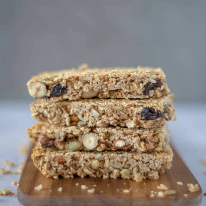 The Best Healthy Flapjack recipe loaded with oats, seeds and nuts perfect for morning or afternoon snacking.And a lot healthier than traditional flapjacks!
