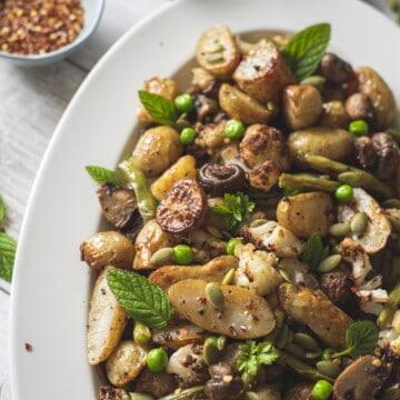 Roasted Jersey Potatoes with Mustard Dressing #veganrecipes #healthyrecipes #potatorecipes #easyrecipes #glutenfree