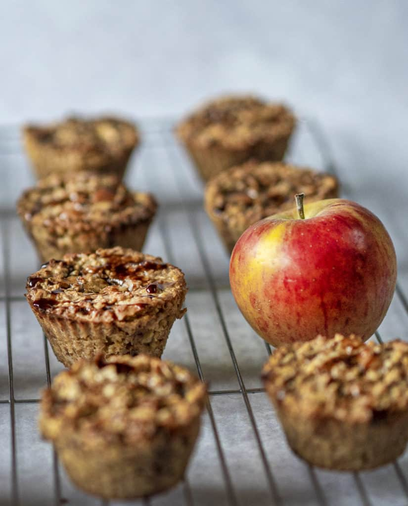 These healthy Apple Muffins are vegan, simple and satisfying. Made with apples, oats, nut butter and no refined sugar, you will feel good eating one or two!