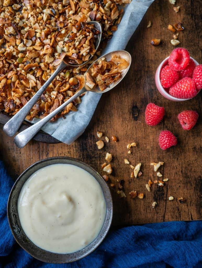 Grain free granola is the perfect breakfast treat! #vegan #paleo #veganfood #veganbreakfast #veganrecipes #grainfree #glutenfree