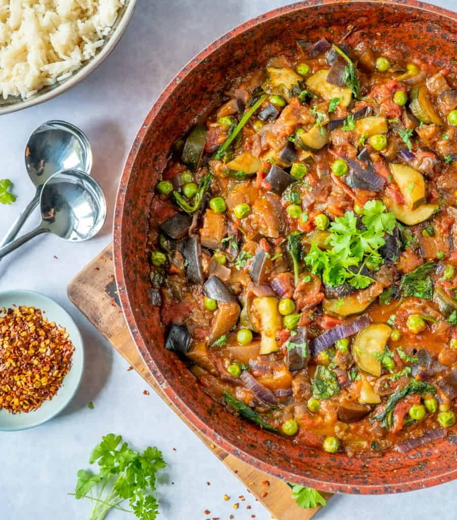 Healthy vegetable stew recipe which is easy to make and full of flavour. Comforting, hearty and ready in 30 minutes! Get your 5-a-day in with 1 meal.