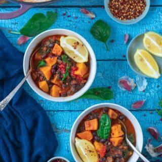 Easy Sweet Potato and Black Bean Stew