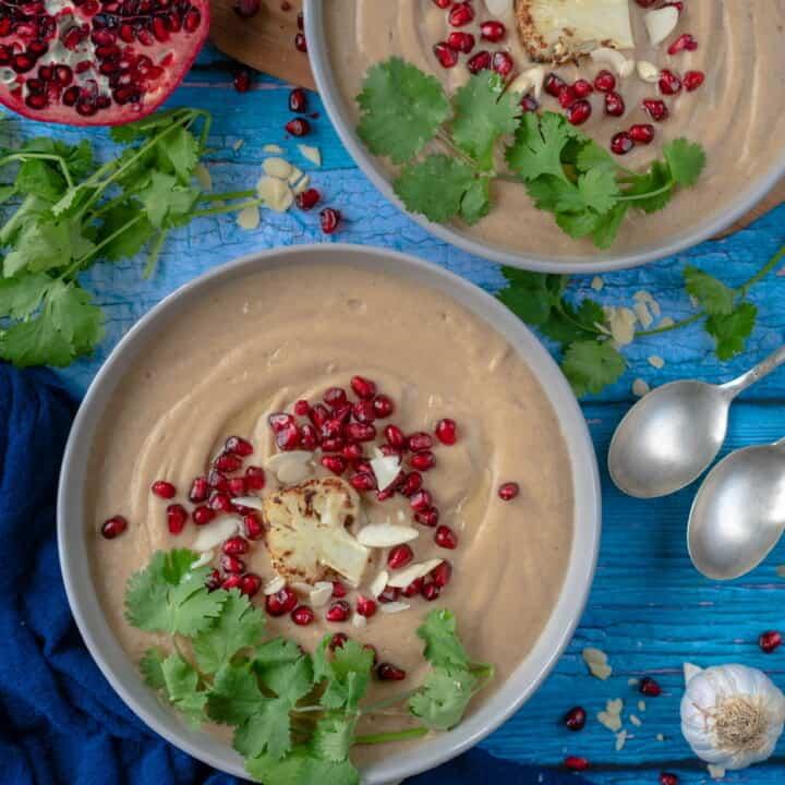 Easy Roasted Cauliflower Soup