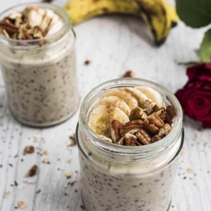 Healthy banana bread overnight oats recipe