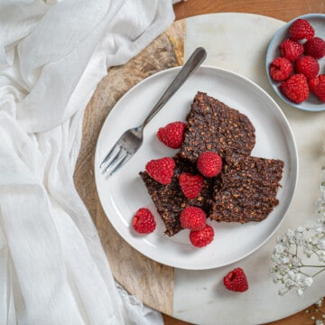 Clean eating chocolate oaty squares recipe