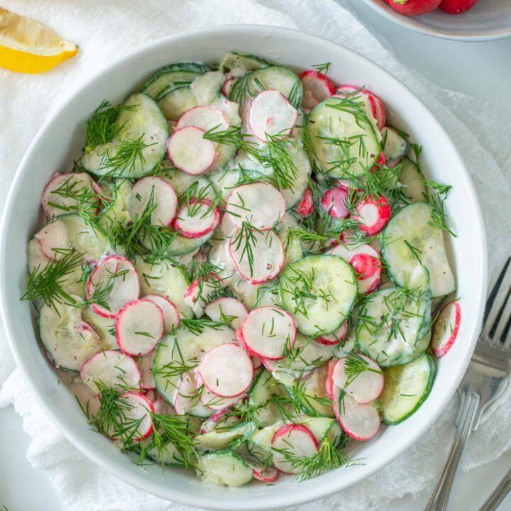 Cucumber Radish Salad(vegan)