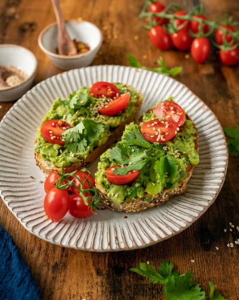 Smashed Broad Beans with Avocado