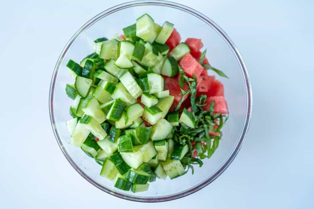 How to Make Watermelon Feta Salad